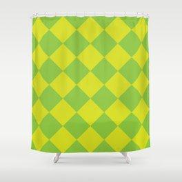 Diagonal Checkerboard IV Shower Curtain