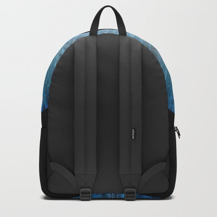 Blue Iris Abstract Universe Art Backpack