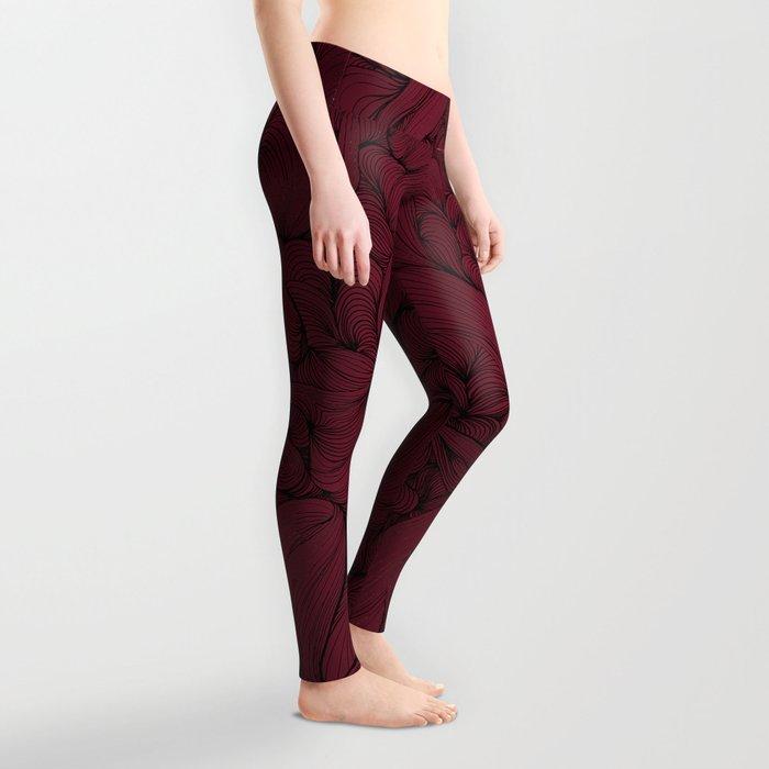 Rose Petal Red Leggings