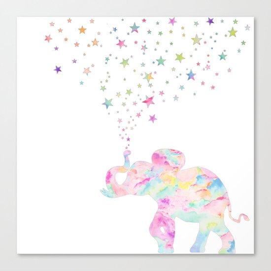 MAKE ME HAPPY ELEPHANT  Canvas Print