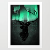 northern lights Art Prints featuring Northern Lights by angrymonk