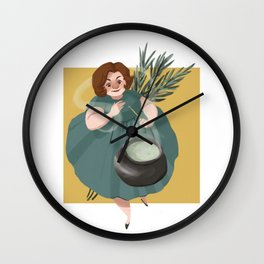 Rosemary Witch Wall Clock