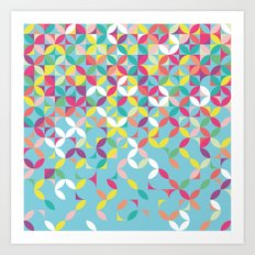 Giddy Geometric Art Print