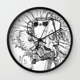 Flowered ATST Black and White Wall Clock
