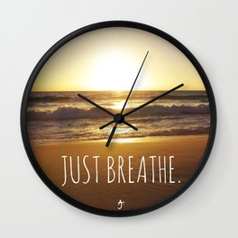 Just Breathe. Wall Clock