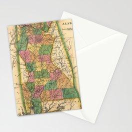 Vintage Map of Alabama (1822) Stationery Cards