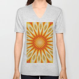 Simply Citrus  Lemon Slices and Blood Orange Unisex V-Neck