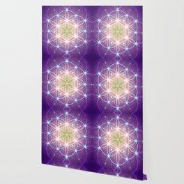 Purple Flower of Life Wallpaper
