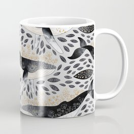 Floral Whale Pattern Coffee Mug