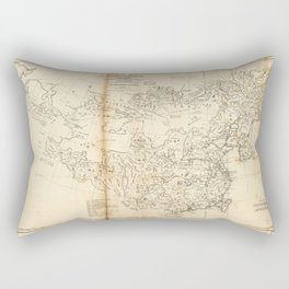 Map of China Chinese-Tartary & Tibet (1834) Rectangular Pillow