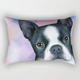 Dog 128 Boston Terrier Rectangular Pillow