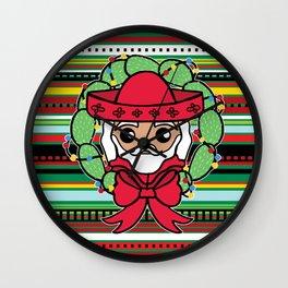 Santa Claus Serape Wall Clock