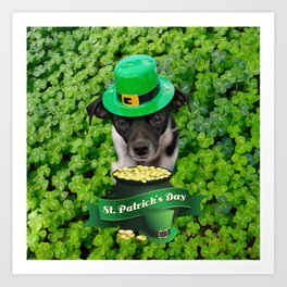 St. Patricks Day Dog Art Print