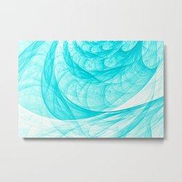 Aqua Marine Waves Metal Print