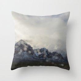 Snowy White Throw Pillow