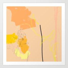 Ambience 030 peachy Art Print