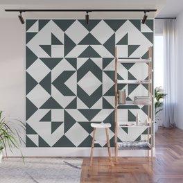 Modern Quilt Block Wall Mural