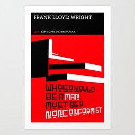 Frank Lloyd Wright Art Print