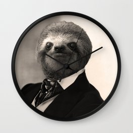 Gentleman Sloth #4 Wall Clock