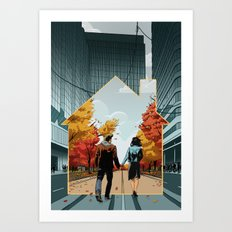 Seeking Suburbia Art Print
