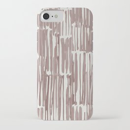 Simply Bamboo Brushstroke Red Earth on Lunar Gray iPhone Case