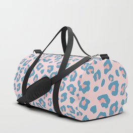 Leopard Print - Peachy Blue Duffle Bag