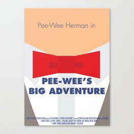 Pee-wee's Big Adventure - Minimalist Poster Canvas Print