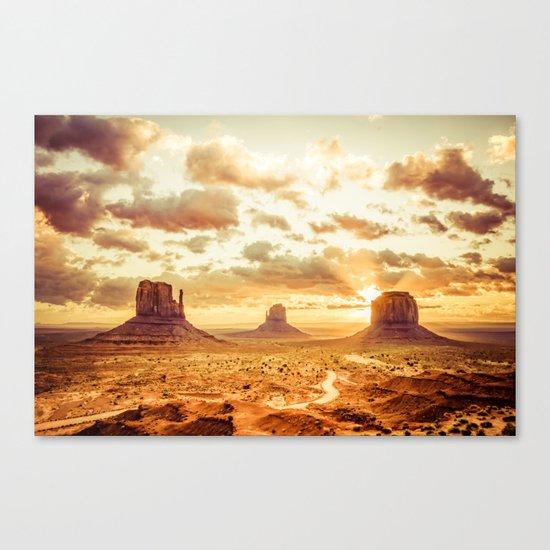 Monument Valley Navajo Tribal Park Arizona Canvas Print