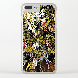Yellow and Pink Bouquet of Flowes Clear iPhone Case