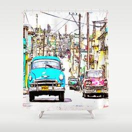 Cuba , calle de La Habana  ( Cuba , Havana street ) Shower Curtain