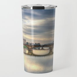 Arno River and Ponte Vecchio, Florence Travel Mug