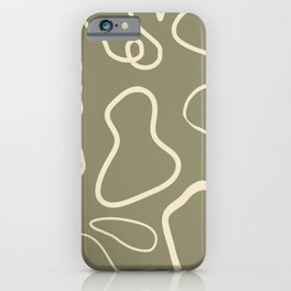 Abstract Curve: Moss iPhone Case