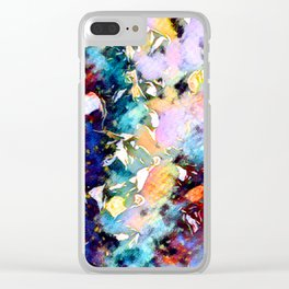 Twirling Colors Of Happiness Clear iPhone Case