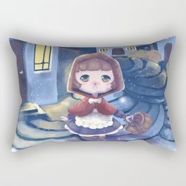 The first snow - Fairytale edition Rectangular Pillow