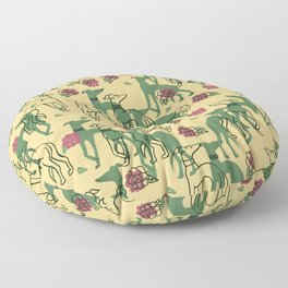 Greyhounds and Roses Floor Pillow