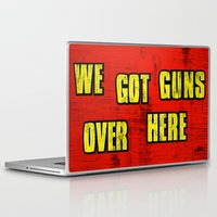 borderlands Laptop & iPad Skins featuring WE GOT GUNS OVER HERE by Resistance