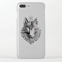 Three Eyed Wolf Clear iPhone Case