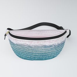 Pink sand turquoise sea Fanny Pack