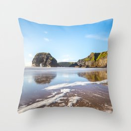 Nun's Beach Reflections Throw Pillow
