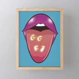 GG EZ - Qiyana True Damage Framed Mini Art Print