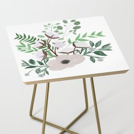 Cotton Blossom Bouquet Side Table
