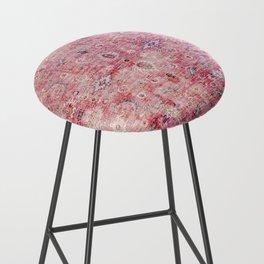 N45 - Pink Vintage Traditional Moroccan Boho & Farmhouse Style Artwork. Bar Stool