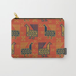 Susa in Red Carry-All Pouch