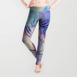 Jellyfish Watercolor Leggings