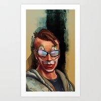 grand theft auto Art Prints featuring Grand Theft Auto Online Characters - The Legend of The Damned by W.Flemming