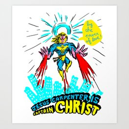we need a hero to fight the evil Santa Claus Art Print