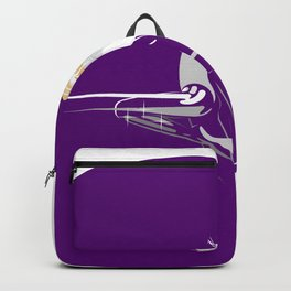 White Girl on Deep Purple Backpack