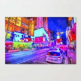 Pop Art Times Square Canvas Print