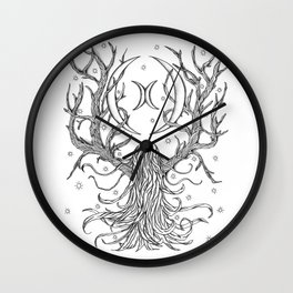 Forest Moon Wall Clock
