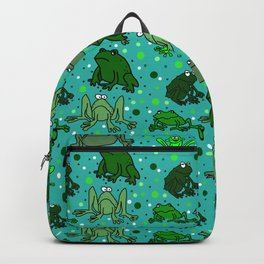 Cartoon Frogs Backpack